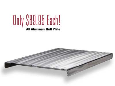 View of the grill plate